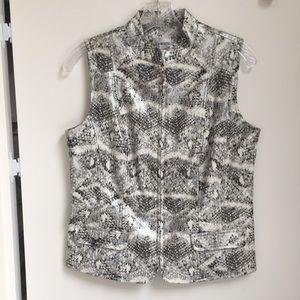 Chico's Vinyl Snake Print Vest